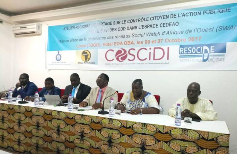 Des acteurs régionaux de la société civile plaident pour la paix et la démocratie au Togo