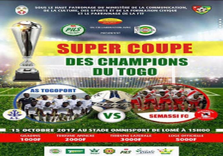 La saison 2017-2018 s'ouvre avec la «Super Coupe»: Semassi contre As Togo Port