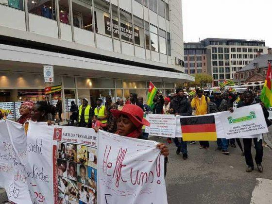 Togo / Allemagne : Manifestation de la diaspora à Frankfort le 22 octobre dernier.