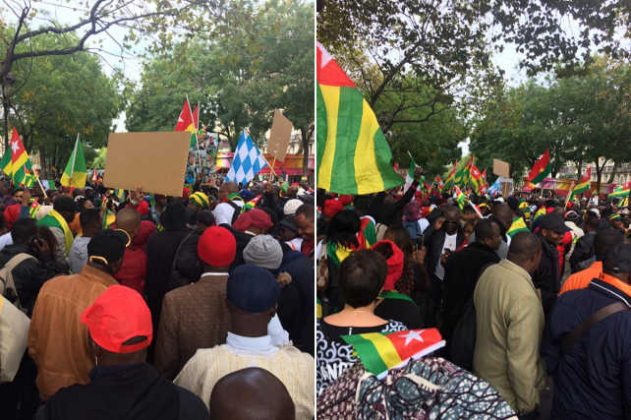 Échos des Manifs du 7 octobre de la diaspora togolaise en Europe et au Canada