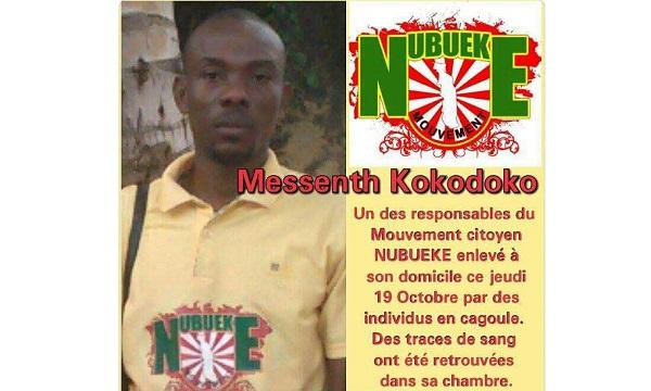 Un responsable de « NUBUEKE » enlevé par des hommes cagoulés                                                                             20 octobre 2017