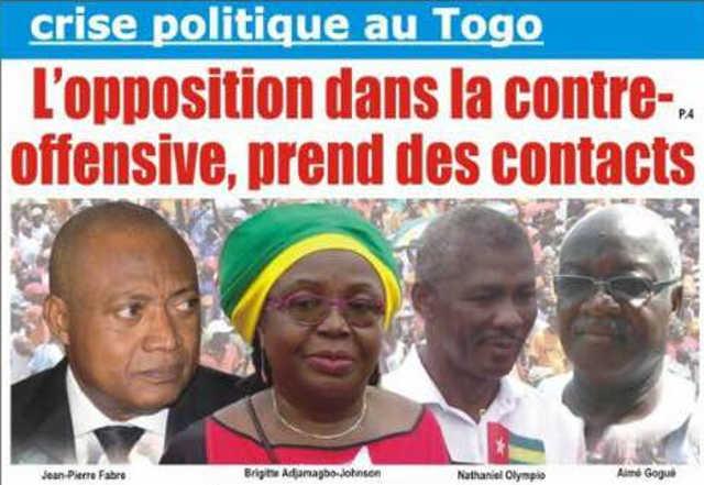 Crise politique au Togo : Contre-offensive de l'opposition
