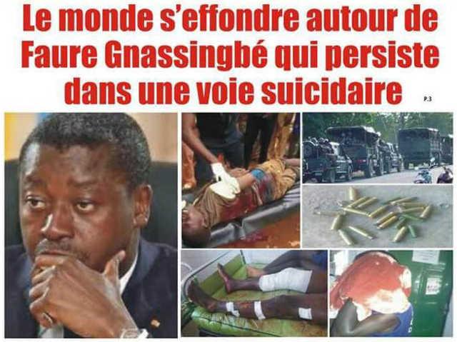 Togo : Faure Gnassingbé, le monde s'effondre autour de lui, mais il persiste dans une voie suicidaire.