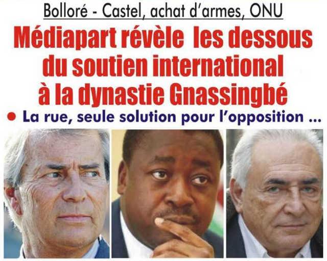 Togo, Bolloré – Castel, Achat d'armes, ONU : Les dessous du soutien international à la dynastie Gnassingbé