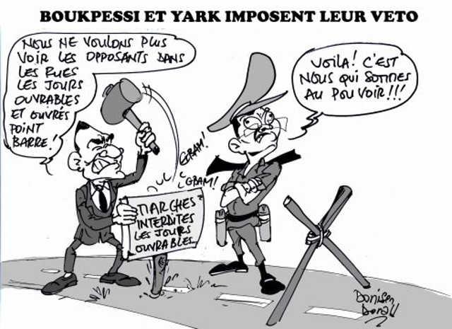 Togo, Interdiction scélérate des manifs en semaine : Un comportement moyenâgeux du gouvernement Faure/RPT/UNIR qui légitime la chienlit