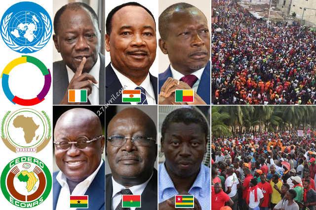ONU, OIF, UA, CEDEAO, et 5 chefs d'État plus « un » contre le peuple Togolais : L'ingérence diplomatique dans les affaires du Togo !