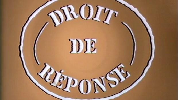 URGENT : DROIT DE REPONSE