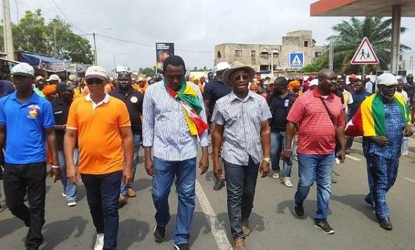 La marche bat actuellement son plein à Lomé 16 novembre 2017