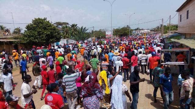 Togo, Manif populaire patriotique #FaureMustGo : Encore plusieurs milliers de Togolais dans les rues de plusieurs villes ce 8 novembre