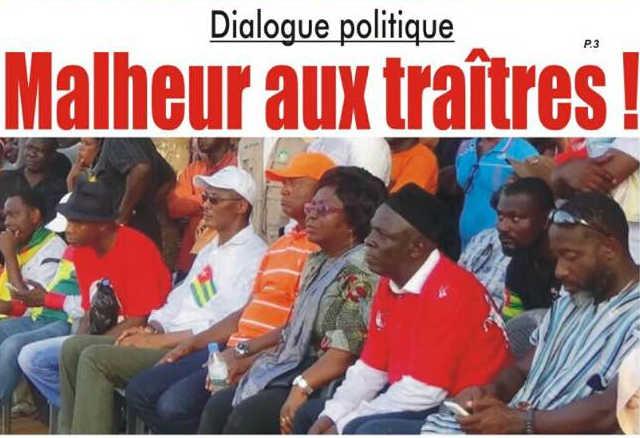 Togo, Dialogue politique : Malheur aux traîtres !