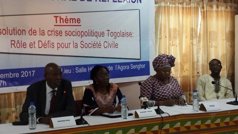 La société civile Togolaise en concertation pour une résolution pacifique de la crise