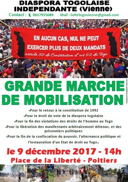 Grande marche de mobilisation de la diaspora togolaise de France