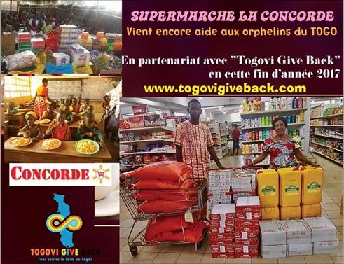 Le Supermarché la Concorde vient en aide aux orphelins du Togo