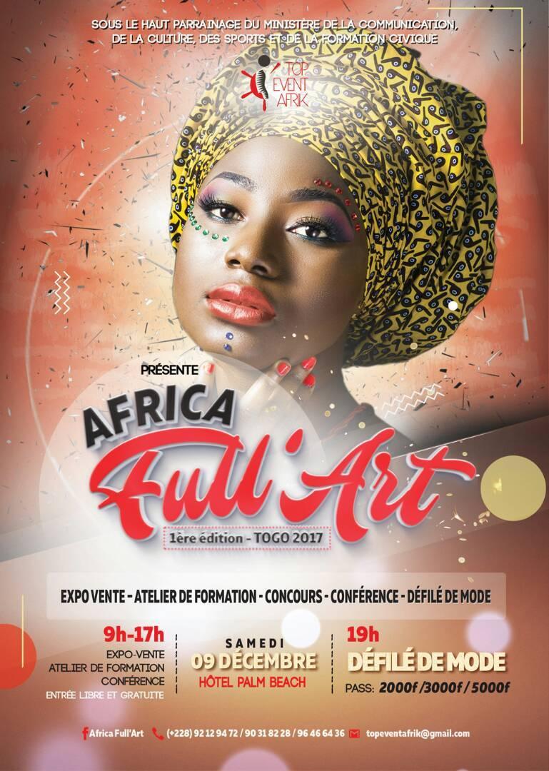 Africa Full'art 2017 : le foulard en pagne à l'honneur le 09 déc.