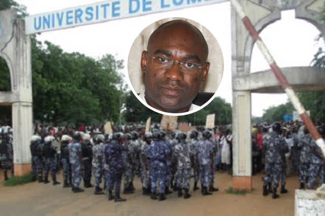 Togo, Les Dérives du sieur Dodji Kokoroko continuent : Le Campus de l'Université de Lomé « Transformé » en Camp militaire !