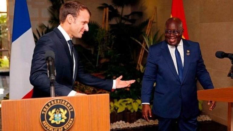 Nana Akufo-Addo et Emmanuel Macron ont échangé sur la crise togolaise