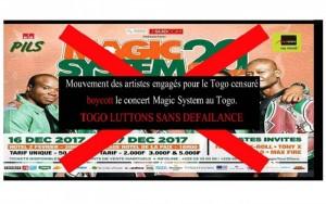 Togo: Concerts de Magic System à Lomé, des artistes engagés appellent au boycott