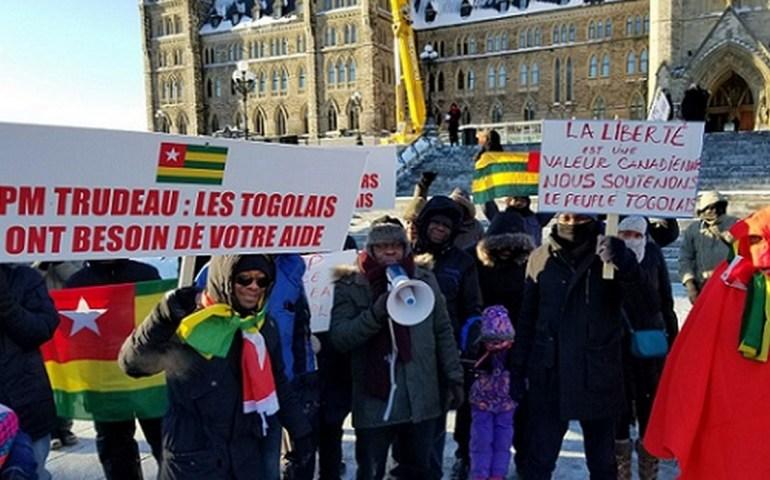 Marche de l'Opposition 13 janvier: la diaspora togolaise de Canada et Ottawa n'était pas du reste