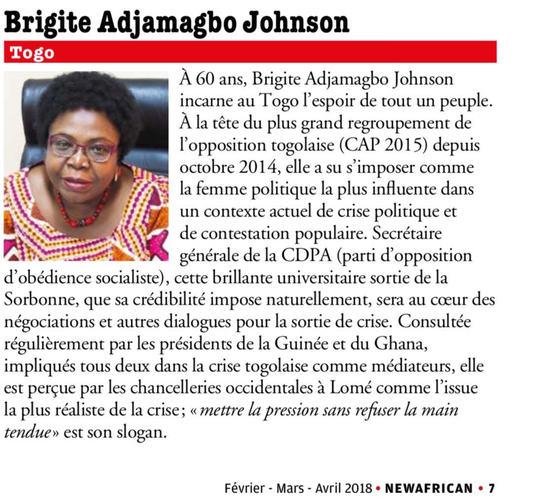 10 togolais parmi les hommes qui vont influencer l'Afrique en 2018