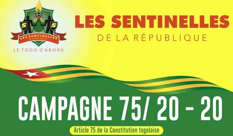 LANCEMENT DU CAMPAGNE 75/ 20-20 ARTICLE 75 DE LA CONSTITUTION TOGOLAISE DE 1992 PAR LES SENTINELLES DE LA REPUBLIQUE 15 mars 2018