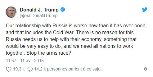 Syrie: prépare-toi Russie! - Donald Trump