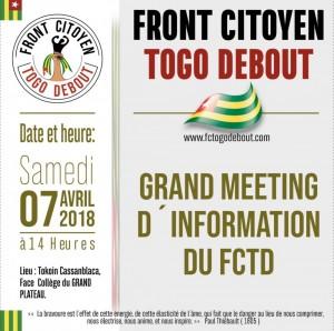 Togo: Le Front Togo Debout décidé à se faire entendre