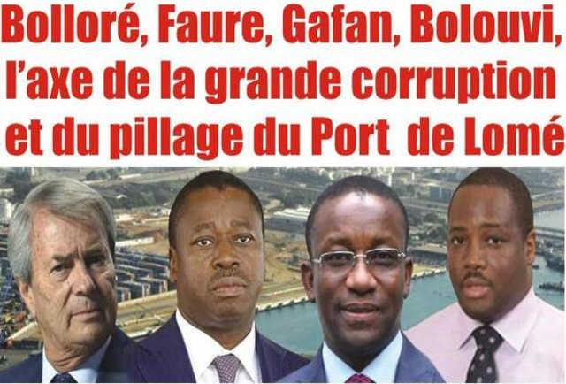 Togo : Bolloré, Faure, Gafan, Bolouvi, l'Axe de la Grande Corruption et du Pillage du Port Autonome de Lomé