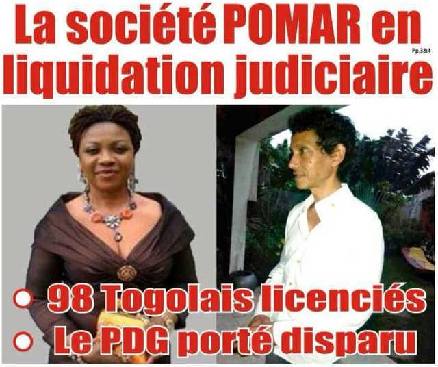 Togo, Encore un Scandale : Pomar en liquidation judiciaire
