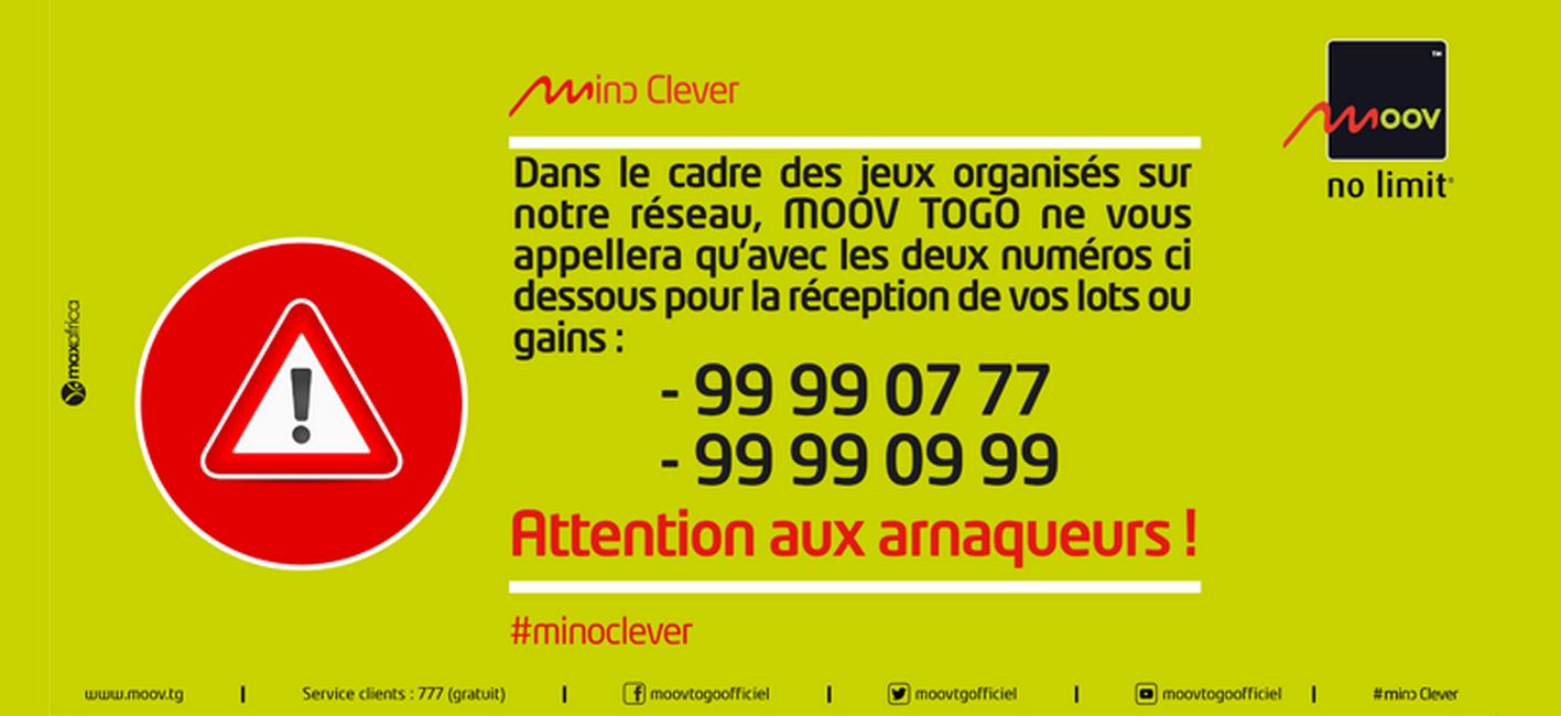 Arnaque et escroquerie / Moov Togo appelle à la vigilance de ses abonnés