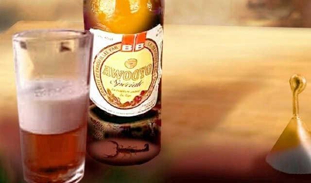 Togo :  Awooyo, Une bière au jus succulent de Scorpion ?