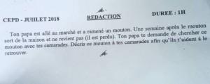 Togo: Le sujet de rédaction des petits à l'examen du CEPD récupéré par les grands