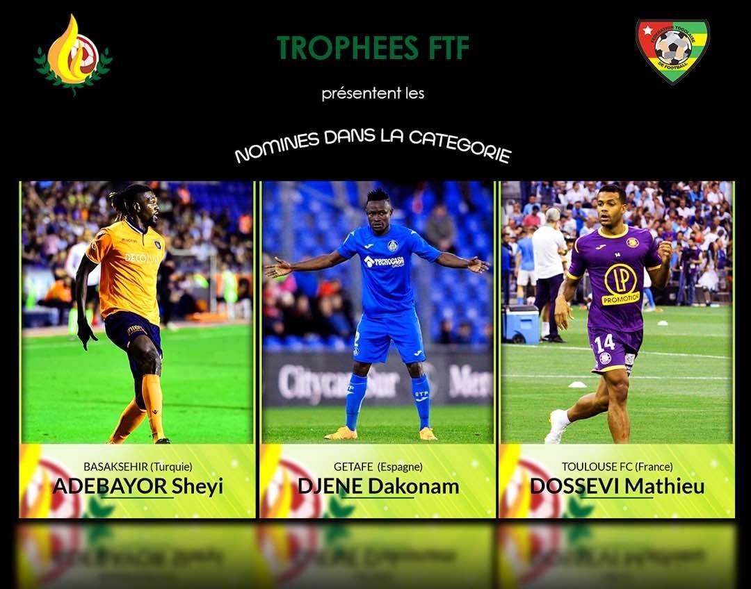 Togo/Awards du Football: Sheyi Adebayor, Djene Dakonam et Mathieu Dossevi nominés