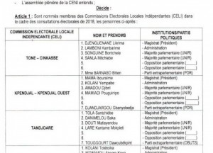 Togo : Elections, nomination des membres des CELI avec des vides