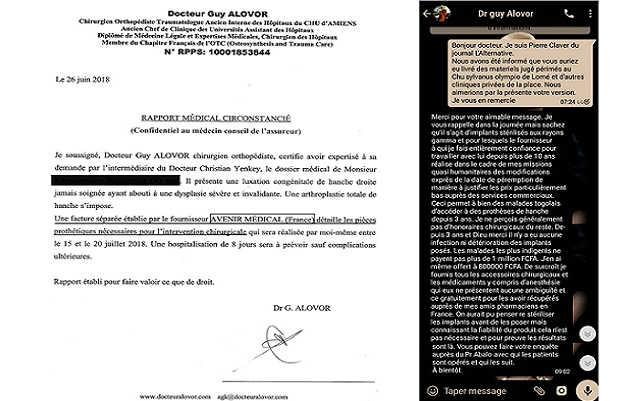 Togo, Scandale des Implants Périmés au CHU-SO : Yves Amaïzo et Comparses, Avocats du Diable !