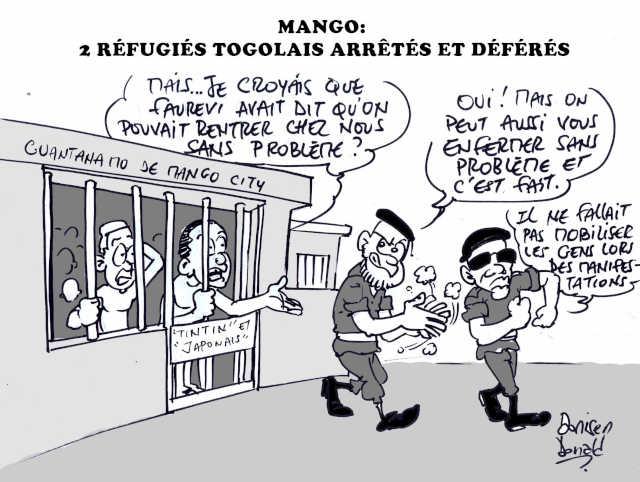 Togo : M'Biba Taïrou et Abou Saïbou, Deux jeunes, de retour d'exil, arrêtés et déférés à la prison civile de Mango
