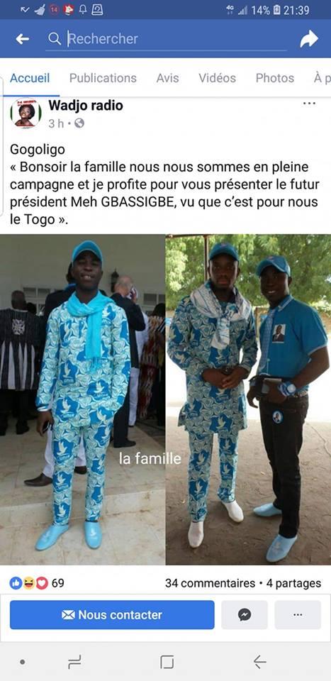 Campagne électorale Togo/ Gogoligo dénonce une tentative de dénigrement de sa personne