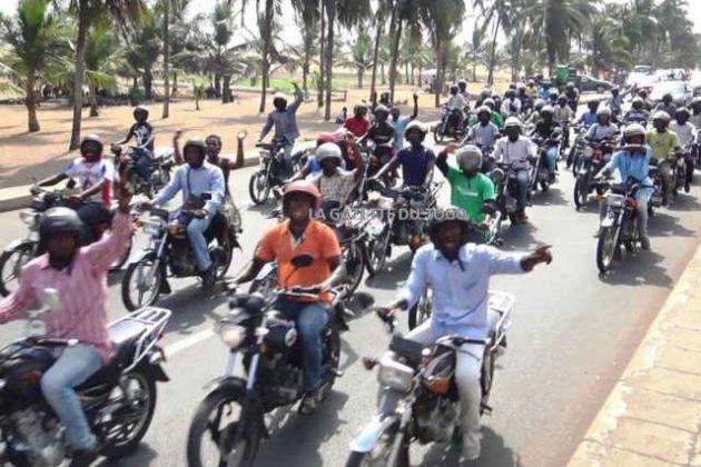 Togo : La Caravane de la C14 passe Majestueusement dans les rues de Lomé, Malgré les Intimidations et les Agressions du régime Faure/RPT-UNIR