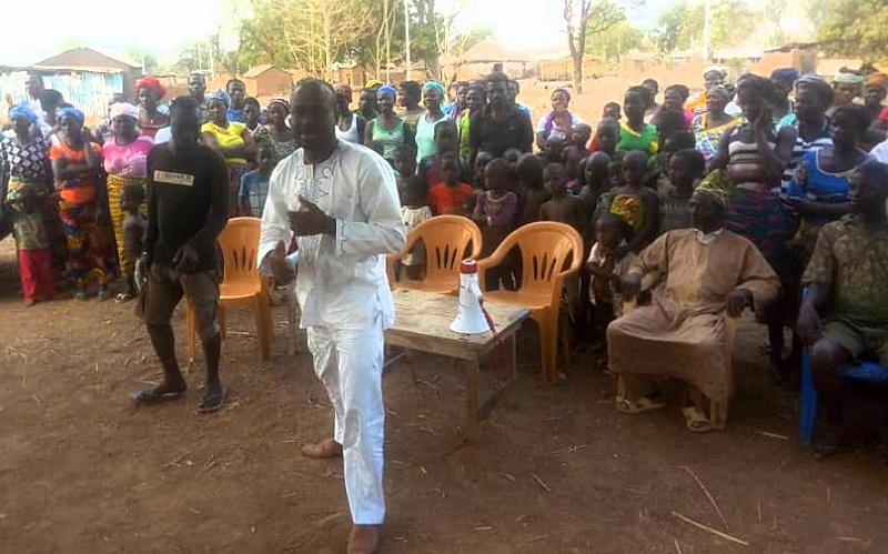 Innocent Kagbara de retour chez les populations de Dankpen