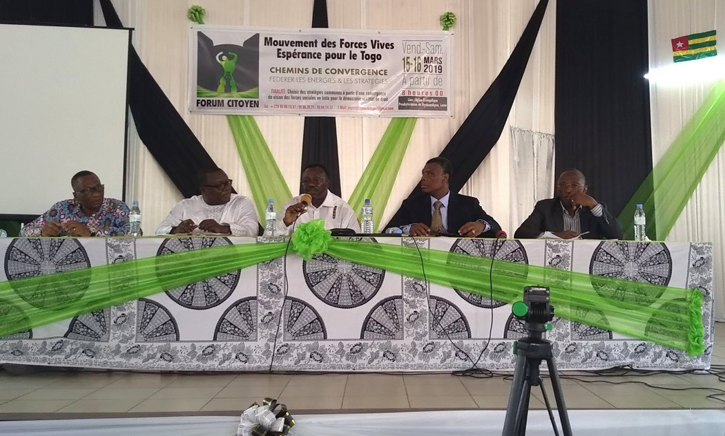 Forum citoyen des Forces vives / « Dans l'unité, agir ensemble pour un Togo nouveau et prospère… »