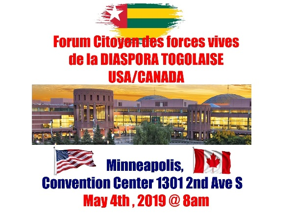 La Conference des forces vives de la diaspora Togolaise à Minneapolis 4 Mai 2019