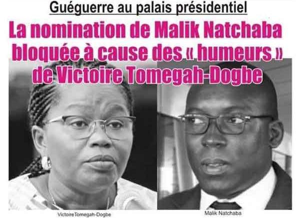 Togo, Guéguerre au Palais Présidentiel : La Nomination de Malik Natchaba bloquée à cause des « humeurs » de Victoire Dogbé
