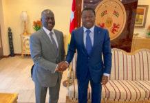 Le Chef de l'Etat échange autour de projets de développement avec Adama Bictogo, PDG de la SNEDAI