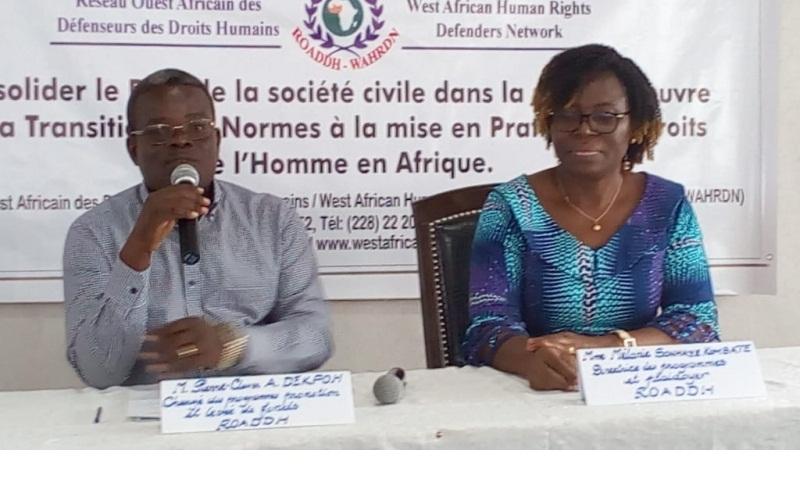 Droits de l'Homme : La ROADDH met à jour les conclusions du forum des ONG 2019
