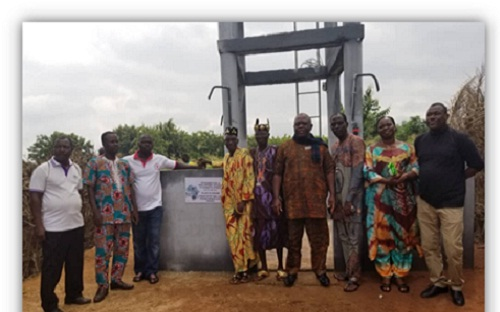 Bas-Mono : Un point d'eau de l'ONG PRODIDA pour le village de Kewome