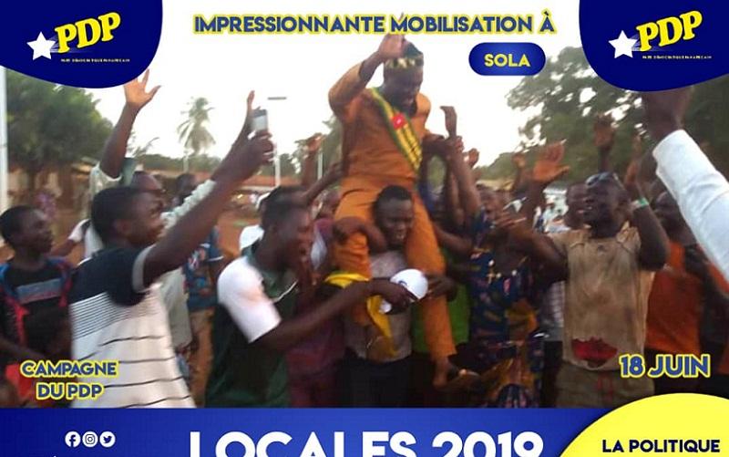 Élections locales 2019 : Le PDP en meeting dans le canton de Solla dans la préfecture de Binah.