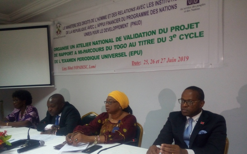 Le Togo présentera pour une 2è fois consécutive son rapport devant le Conseil des Droits de l'Homme de l'ONU
