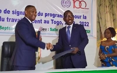 OIT : Le gouvernement signe un accord de promotion de travail décent