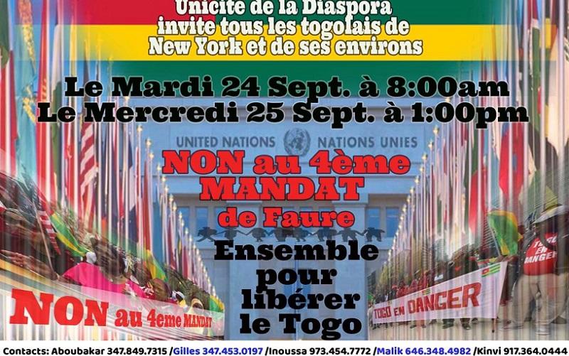Les Togolais de New York disent « NON » au 4e mandat de Faure Gnassingbé