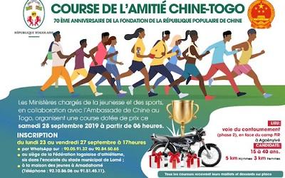 Une course populaire pour renforcer l'axe Lomé-Pékin
