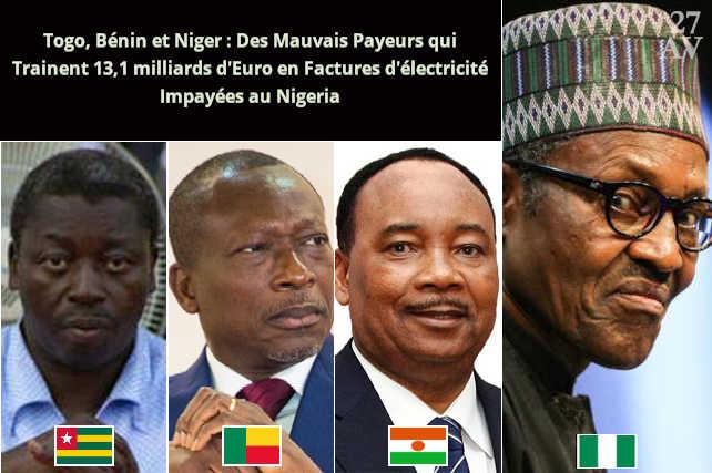 Factures impayées : Le Nigéria menace de couper l'Electricité au Togo, au Bénin, et au Niger